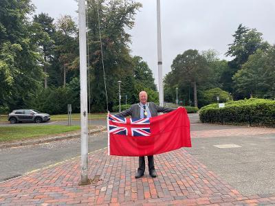 Provost Fletcher raises flag for Merchant Navy Day